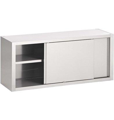 Combisteel Kleiderschrank SS | 2 Schiebetüren | 1 Etage | 1000x400x650 (h) mm | Auswahl von 6 WIDTHS