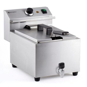 Hendi Fryer Master Cook | With drain valve | 8 Liter | 3,5kW | 270x470x (H) 325mm