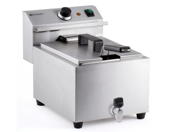 Hendi Friteuse Mastercook | Met Aftapkraan | 8 Liter | 3,5kW | 270x470x(H)325mm
