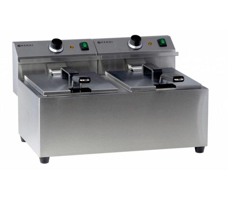 Hendi Fritteuse | Meisterkoch | 2x8 Liter | 2x3,25 kW | 550x420x (H) 315mm
