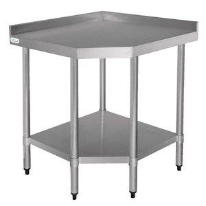 XXLselect Stainless steel worktable corner element