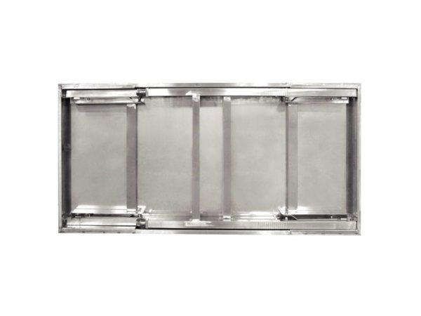 XXLselect RVS Werktafel Inklapbaar | 20,4 kg | 1200(b)x600(d)x900(h) mm