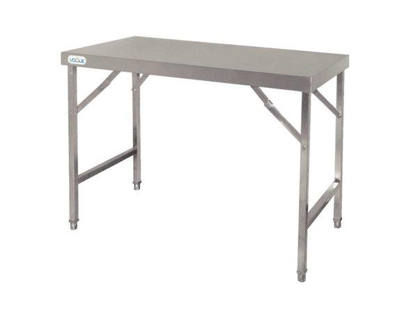 XXLselect Stainless Steel Folding Workbench   28 kg   1800 (b) x600 (d) X900 (H) mm