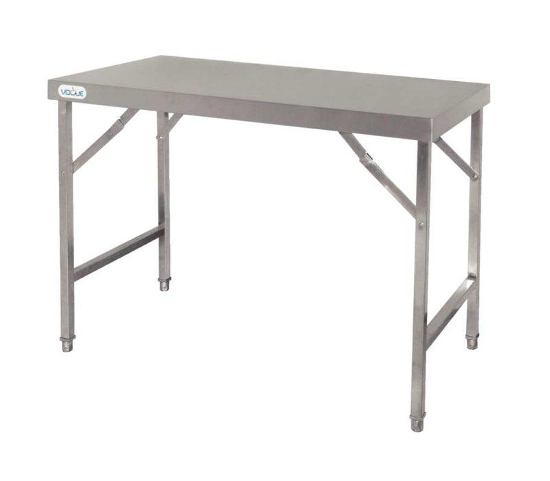 XXLselect Edelstahl Folding Werkbank | 28 kg | 1800 (b) x600 (d) X900 (H) mm