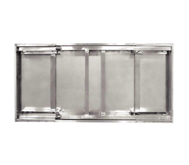 XXLselect RVS Werktafel Inklapbaar   28 kg   1800(b)x600(d)x900(h) mm