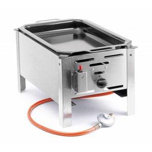 Hendi Hendi 154601 Grill backen Meister Mini | Grill | Tisch Bratpfanne auf Gas | Komplett mit Zubehör