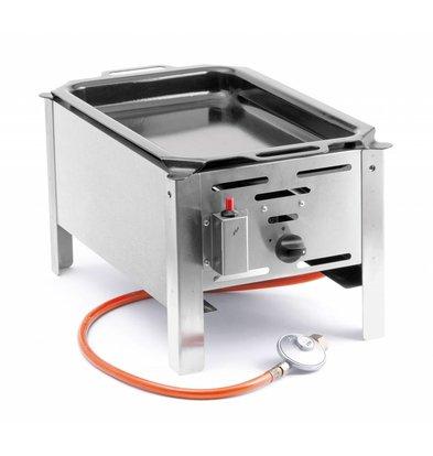 Hendi Hendi 154601 Barbecue Bake Master Mini | BBQ | Bakplaat Tafelmodel op Gas | Compleet met Toebehoren
