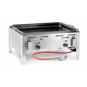 Hendi Gas-Grill Hendi 154.618 Bake Master-Maxi   Bratpfanne Grilltischplatte   Komplett mit Zubehör