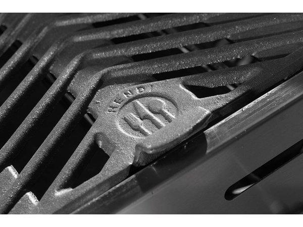 Hendi Hendi Green Fire Grill Brenner 3 XL + Räder | BBQ Professionelle 1078x612x (h) 825 mm | VIDEO