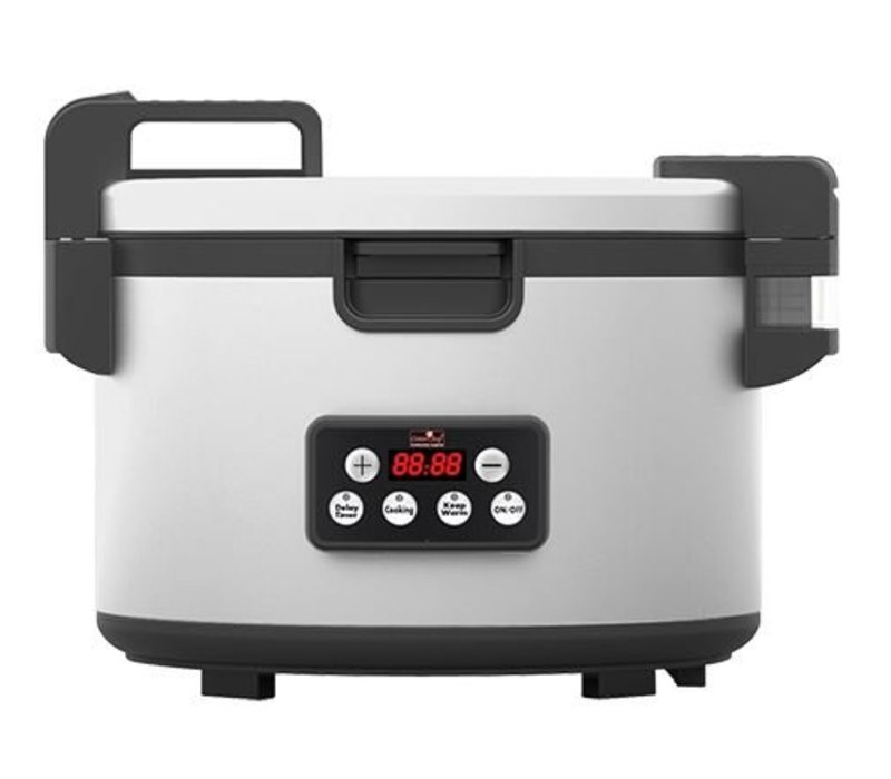 Caterchef Double walled Professional Rice Cooker - Stainless Steel - Digital + Non-stick - 8.2 Liter