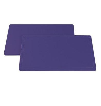 XXLselect Anti-allergenic Purple Blades Right - Cutting boards - HDPE 500