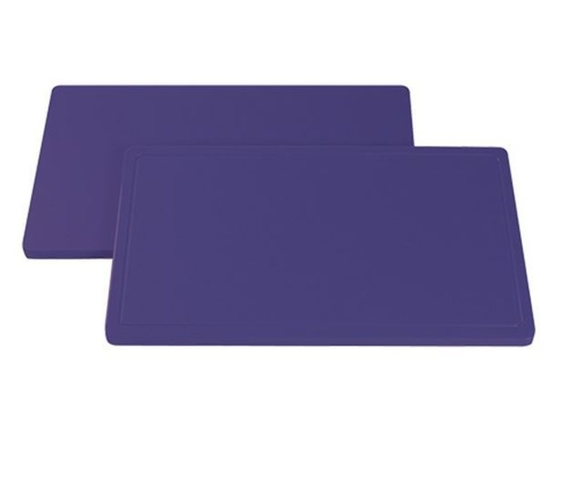 XXLselect Anti-allergenic Purple Blades Right - Cutting boards - HDPE 500