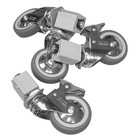 XXLselect Roller set for under HEAVY DUTY stainless steel work tables - including installation