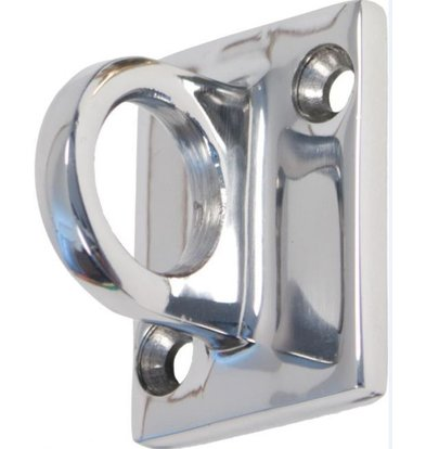 XXLselect Chrome hook for wall outlet cord - 37x49mm