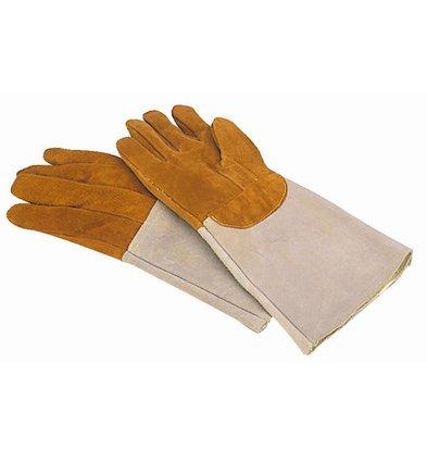 XXLselect Ofenhandschuh aus Leder | Beständig gegen 300C
