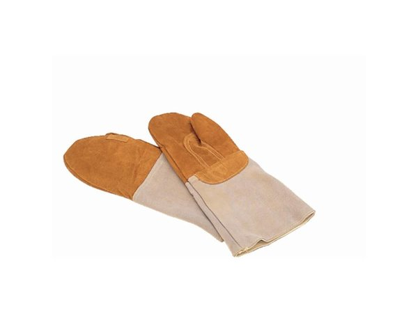 XXLselect Oven Glove Leather   Mittens Bakers   42cm