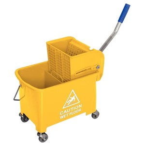 XXLselect Mop bucket with wringer drive - 3 colors - 350x280x (H) 480mm