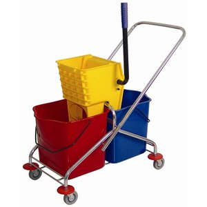 XXLselect Duo mobile mop bucket with wringer