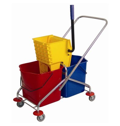Jantex Duo mobile mop bucket with wringer