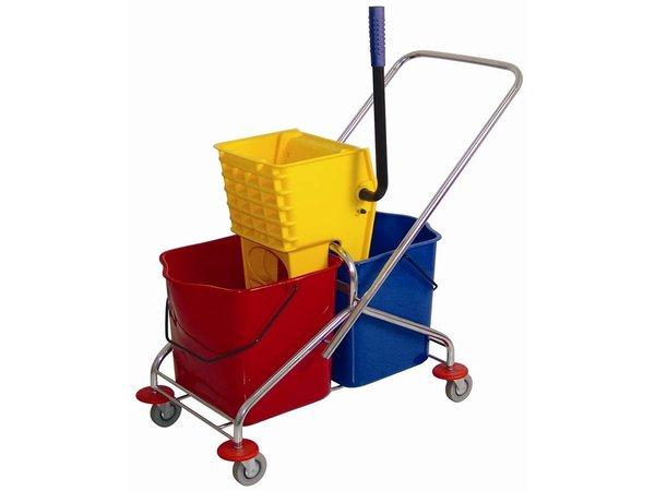 XXLselect Duo mobile mop bucket with wringer