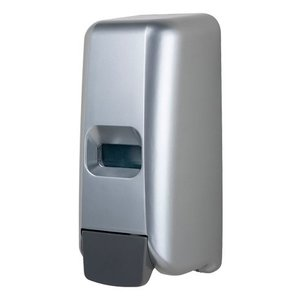 XXLselect Foam Zeepdispenser kunststof RVS look - 118x110x(h)275 - 1000ml