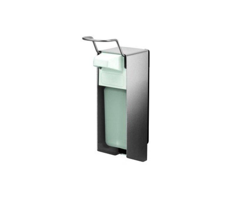 XXLselect RVS Zeep- & desinfectiemiddeldispenser - 151x80x(h)287mm - 500ml