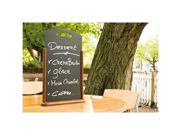 Securit Tafel krijtbord Donkerbruin met Handvat - 2 Maten