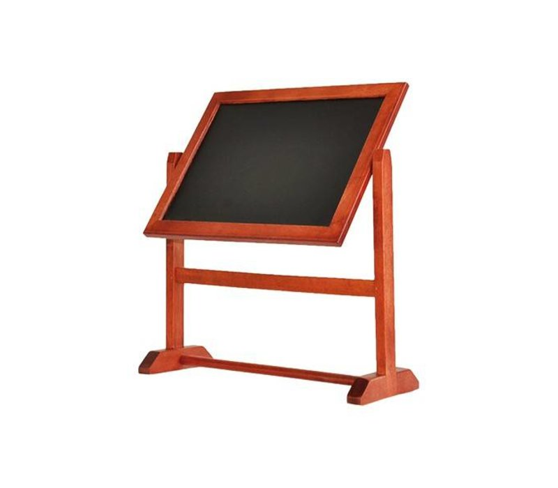 Securit Mahogany table chalkboard - Pivoting