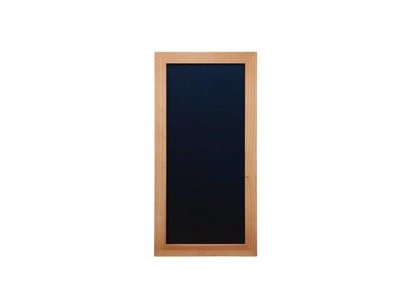 Securit Wand Krijtbord Woody - Teak - Kies uit 5 Maten