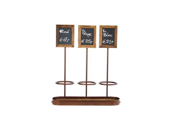 Securit Bottle Holder Chalkboard, 3 Bottles