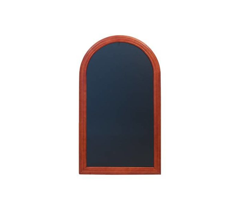 Securit Wand krijtbord Rondo Mahonie - 3 Maten