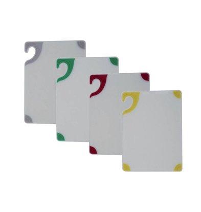 San Jamar San Jamar Schneidbrett - 38x51cm - Saf-T-Grip - Whiteboard - Farbige Ecken