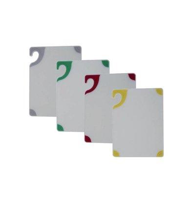 San Jamar San Jamar Schneidbrett - 23x30cm - Saf-T-Grip - Whiteboard - Farbige Ecken