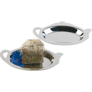APS Teebeutelablage | Edelstahl poliert | 12.5x7x (h) 1cm | 2 Stück