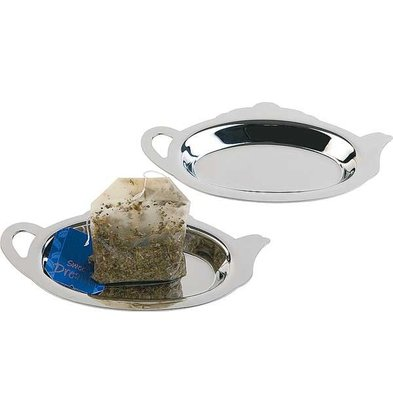 APS Teabagholder   Polished Stainless Steel   12.5x7x (h) 1cm   2 pieces