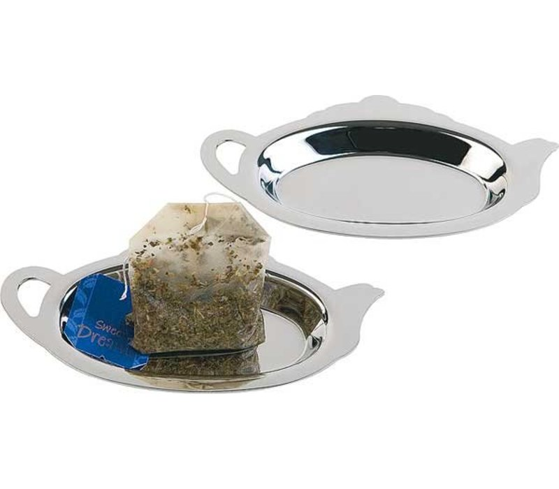 APS Teabagholder | Polished Stainless Steel | 12.5x7x (h) 1cm | 2 pieces