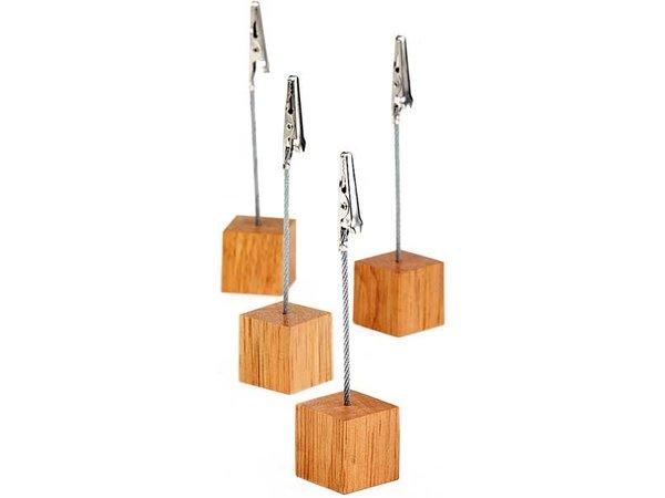 APS Four-piece cardholders | Rubber Wood | 3x3x (h) 12cm