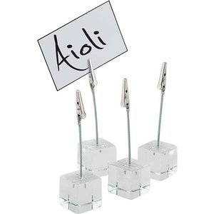 APS 4-delige Set tafelstandaard | Wit Kunststof | 3x3x(h)12 cm