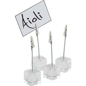 APS 4-teiliges Set Tischständer | Weiß Kunststoff | 3x3x (h) 12 cm