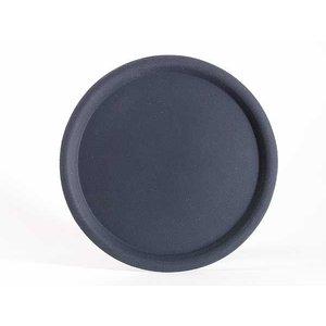 APS Nonslip Tray Round | Black | Stackable | Ø32cm