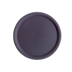 APS Nonslip Tray Round | Black | Stackable | Ø43cm
