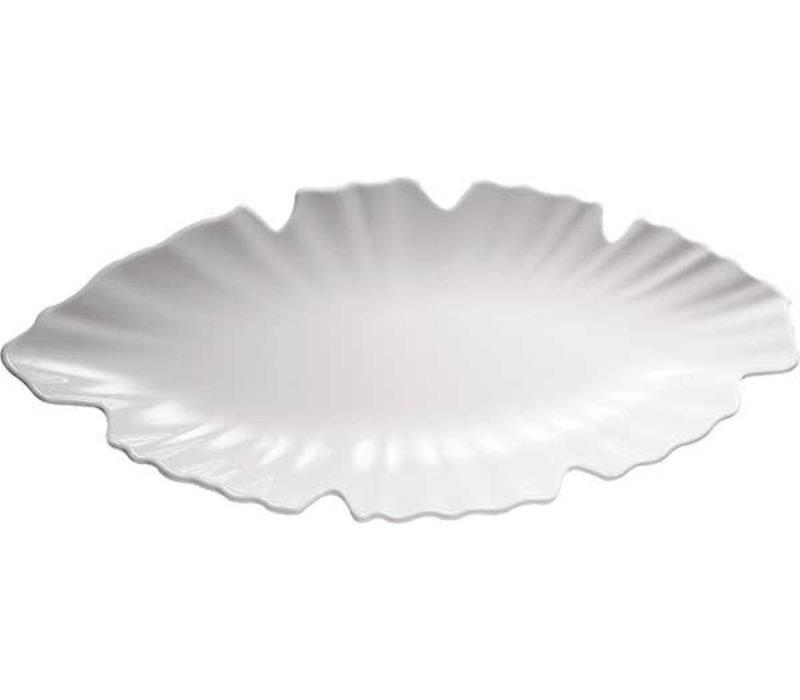 APS Leaf Bowl - Melamine White - Dishwasher safe - NATURAL - 520x250x (h) 4 mm