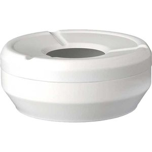APS Ashtray | Melamine White | Stackable | Ø10x (H) 4cm