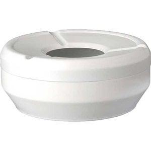 APS Ashtray | Melamine White | Stackable | Ø10x (H) 4cm