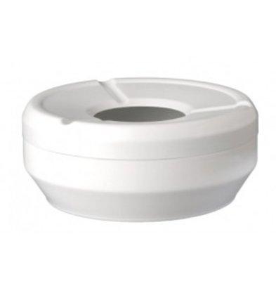 APS Ashtray | Melamine White | Stackable | Ø12x (H) 4,3cm
