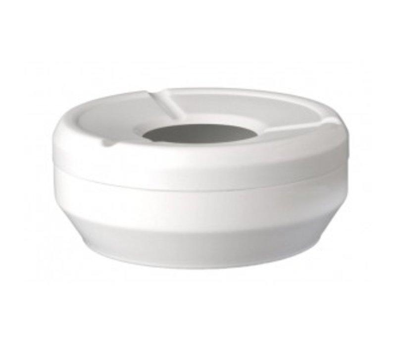APS Asbak   Melamine Wit   Stapelbaar   Ø12x(H)4,3cm