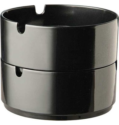 APS Ashtray | Melamine Black | Stackable | Ø9,5x (H) 4cm