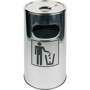 APS Aschenbecher / Mülleimer | Abnehmbarer Asche | Leicht zu reinigen | ca. Ø 300 mm | Höhe 600 mm