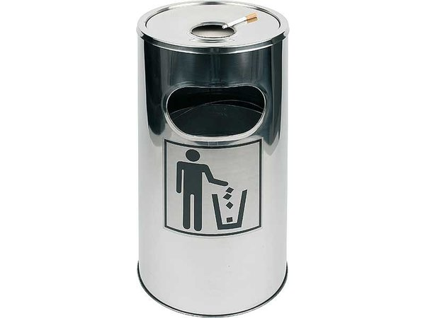 APS Ashtray / waste bin | Removable ashtray | Easy to Clean | ca. Ø 300 mm | height 600mm