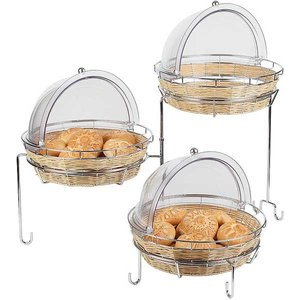 APS Buffet Frame 3 Traps | Metal chrome | For Baskets | 92x77x (H) 50cm